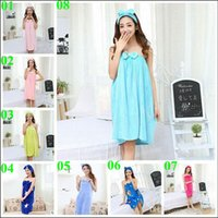 Wholesale 2015 hot color autumn women nighty sexy wrapped strapless Robes bowknot nightgown coral flannel nightwear bath towel pajamas TOPB3561 p