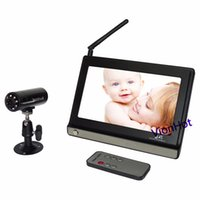 Wholesale 2 GHz Wireless IP Digital Baby monitor quot TFT LCD Video WIfi Baby Monitor Night Vision Camera With Remote