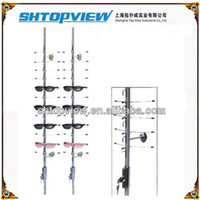 Wholesale LOC C Top View Glass Display Stands Aluminum Alloy Material Glass Display Rack Can Hold Glasses on Each Rod Eyewear Displays