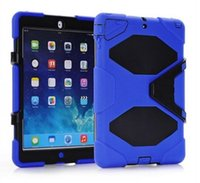 Wholesale Military Extreme Heavy Duty WATERPROOF SHOCKPROOF DEFENDER CASE Cover For iPad Air Mini STAND Holder Hybrid Cases High Quality Q1