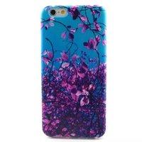 al por mayor púrpura caso del iphone 4s-10PCS / Lot la nueva púrpura elegante del cielo azul de la calidad deja la caja Scratch-Resistente del teléfono de TPU para el iPhone 4 4S 5 5S 5C 6 de Samsung S3 S4 S5 S6Edge