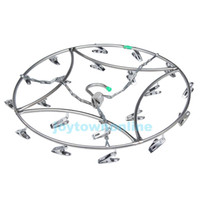 Wholesale Stainless Steel Laundry Hanger Clothes Socks Hanger Shorts Underwear Drying Rack Hanger Clips Laundry Racks BHU2
