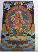 Wholesale Tibet Nepal thangka tara buddha Kuan statue Guan Yin Exorcism peace wealth cf