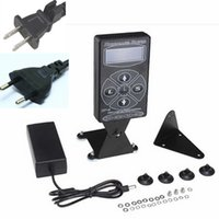 Wholesale Dual Digital Hurricane Black Tattoo Power Supply Hurricane Digital LCD Display US EU Plug Retail Box