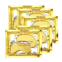 Wholesale Free DHL New Collagen Crystal Eye Masks Anti puffiness moisturizing Eye masks Anti aging masks collagen gold powder eye mask