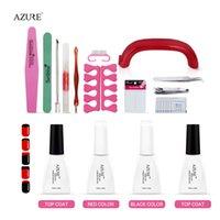 Wholesale Nail Art BASE TOOL W UV Lamp French nail style soak off Gel nail base gel top coat gel nail polish kit Manicure tools Set