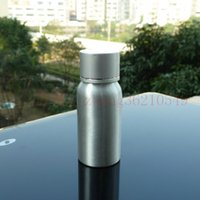 pharmaceutical raw material - 30ml aluminum silver bottle With silver aluminum cap cosmetic container for essential oils pharmaceutical raw materials