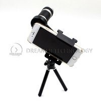 Cheap Universal Clip 12x Optical Zoom Phone Telescope Camera Lens with Tripod for iPhone 5 5s 6 Samsung S5 S4 Free Ship
