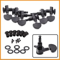 Wholesale Black Lock Semicircle Tuning Pegs Tuners Machine Heads R L Electric Acoustic Guitar Parts set