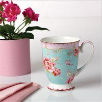 bone china - Gold rose mugs costly bone porcelain cup series Creative ceramic royal cup gift cups