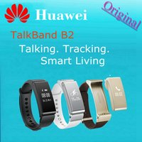 Wholesale Original HUAWEI TalkBand B2 Smart Bracelet Watch Bluetooth Fitness Smartwatch Band Phone Mate For IOS Android Smartphone New