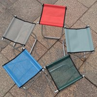 Wholesale Portable folding stool fishing chair Mazar outdoor painting train small Beach bench D Galvanized pipe Red Blue Army Green