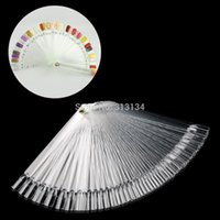 Wholesale New10pack Pack False Nail Art Tips Stick Polish Display Foldable Practice Fan Board Clear