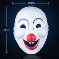 Wholesale New Fashion Halloween Masks With The Red Nose Clown Masquerade masks mask party masquerade plated handmake mask Masquerade ball mask