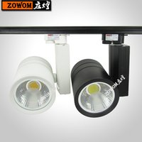 Wholesale LED Rail Lighting W COB LED Track Light LED Ceiling Lamps with wire tracking lighting adager