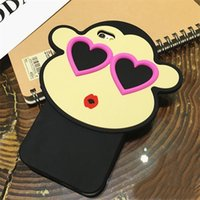 apples monkeys - Cute Kiss Monkey iphone S Cases Waterproof Red Heart Eyes Monkey Animal Design Soft Silicon Cases For iphone s plus