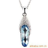 accord sapphires - Christmas gifts according to South Korea full of diamond jewelry sapphire slippers necklace k018