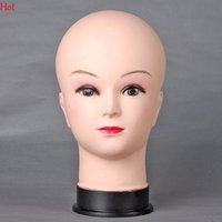 Wholesale 2016 Top Hot Female Mannequin Head Model Wig hair Mannequin Manikin Head Model Women Scarf Hats Wig Display Mannequins Nude