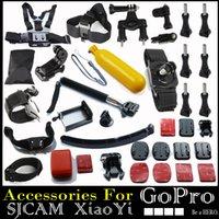 Revisiones Gopro hero4 negro-La correa del pecho GoPro héroe accesorios conjunto Casco Arnés de cabeza de montaje de la correa Go Pro hero3 envío Hero4 2 3+ Sj4000 Negro Free Edition
