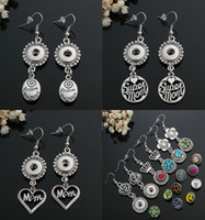 Wholesale 2016 DIY Earring Jewelry mm Snaps Button Earring Fashion DIY Charms Silver Plated Design Single Snaps Earrings Jewelry E285L