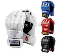 Boxing gloves - Hot Sale Half Finger Boxing Gloves Sanda Fighting Sandbag Gloves Made of High Quality PU leather