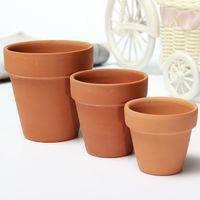 Wholesale 3 Sizes Terracotta Clay Flower Pot for Small Plants Nursery Pots Succulents pots With Holes