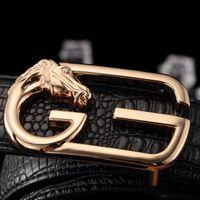 alloy western buckles - Genuine Leather Belts for men New Brands black and brown Good Quality designer belt metal dragon button belts western buckles