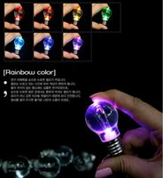 Wholesale Keychains Factory outlets led colorful color keychain key chain pendant Colorful bulbs stall selling goods
