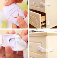 baby cabinet latches - Adhesive Safety Lock child Infant Baby Kids Toddler Fridge Drawer Door Cabinet Cupboard Locks Straps