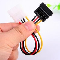 Wholesale 2015 New arrival Hot sale best quality Pin IDE Molex to Pin Serial ATA SATA Hard Drive Power Adapter Cable Cord L019