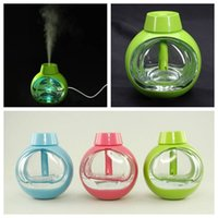 Wholesale USB Transparent Crystal Glass Mini Ultrasonic Air Humidifier Purifier Vibration Switch Diffuser Portable