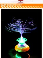 Wholesale 2015 new Crown flash music Optical fiber Spinning Top Electronic Toys Spinning kid TOYS