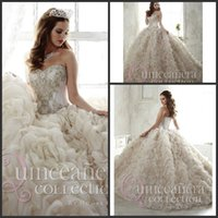 amazing quinceanera dresses - Charming Amazing Crystal Bead Sequins Sweetheart Neckline Sweep Train ruffle Quinceanera Dresses Organza Sexy Prom Ball Gowns Pageant Dress