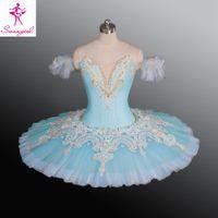 ballerina nutcracker - Adult Sky Blue Color Ballet Tutu Ballet Nutcracker Child Performance Costumes Tutus China Dance Wear Ballerina Clothes AT1171