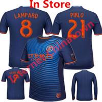 andrea pirlo - 2016 Soccer Jersey New York City FC camisetas de futbol David Villa Andrea Pirlo Frank Lampard Mix Maillot Home Blue Shirts Top Quality