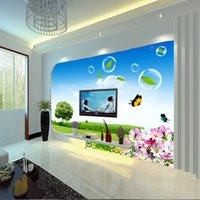 rustic decor - Art customized home decor Mural butterfly shape d three dimensional wallpaper bubble tv natural rustic