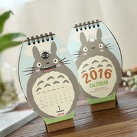 Wholesale Year Cute My Neighbor Totoro Desktop Paper Calendar dual Daily Scheduler Table Planner Yearly Agenda Organizer