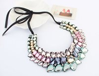stainless steel necklace clasp - Women Jewelry Crystal Chain Choker Chunky Statement Bib Pendant Chain Necklace Gold