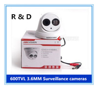 Wholesale HIKVISION TVL MM wide Angle dome camera HD Surveillance night vision cameras bullet waterproof dust infrared CCTV camera