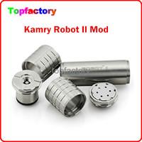 Cheap Best Sales Kamry Vapor Robot 2 Mechanical Mod E Cigarette Vapor Robot II Mechanical Mod E Cigarette Robot 2 For 18350 18650 battery Free