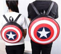 Superhero Vendicatori Capitan America Borsa in pelle regalo rotondità Capitan America zaino ad alta capacità di rilassamento Uomini E Donne Zaino