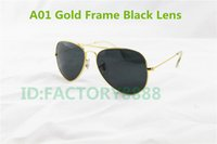 Beach gold sunglasses - High Quality Mens Womans Glasses Gold Frame Black Glass Lens mm Size Designer Sport Sunglasses come boxes