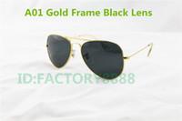 achat en gros de mens verres concepteur d'or-Lunettes de soleil de haute qualité pour hommes et femmes