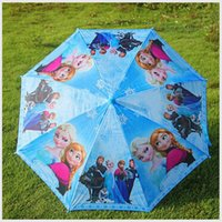 Wholesale Fashion Cute Cartoon Frozen Umbrella Rain and Sun Proof Elsa Anna Olaf Children Umbrella cm Series