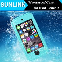 Wholesale Redpepper Waterproof Shockproof Dirt Snow proof Durable Case Cover for Apple iPod Touch th Gen Outdoor Hard Cover with Stand Holder