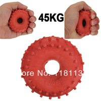Wholesale 45KG lbs Strength Training Ring Hand Finger Rubber Grip Muscle Forearm Wrist Fingers Palm Exerciser