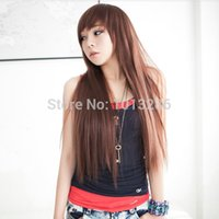 Others Others Others Wholesale-Wholesale wig CD transvestites transsexuals Liu Qi long straight hair for boys and girls in the hair repair face fashion sets ne