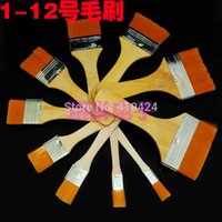 Wholesale 10PCS Different Size Shape Soft Hair Brush Wood Handle Paint Brush PCB cleaning Brush order lt no track