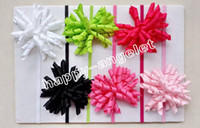 baby gymboree - 12PCS baby stretchy headband korker bow flower clip hairband hot sale skinny Elastic slender rubber band Gymboree style hair ties PD013