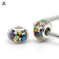 plastic beads - 1Pc Fashion Colored Dots Classic Plastic Bead European Beads Fit Pandora Charm Bracelet Bangles Necklace